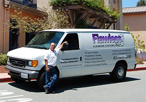 raymond and carpet cleaning van